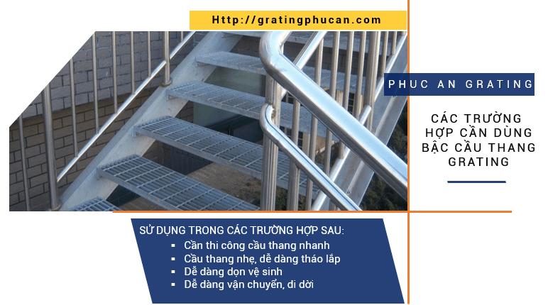 Sử dụng bậc cầu thang Grating