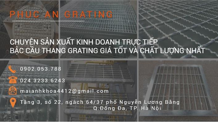 Báo giá bậc cầu thang Grating - Bậc thang mạ kẽm Grating