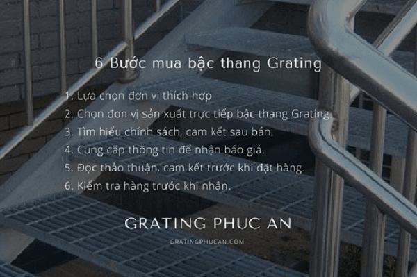 6 bước mua bậc thang Grating chất lượng